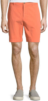 Tailorbyrd Twill Flat-Front Shorts Tangerine