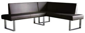 Wade Logan Robb Faux Leather Corner Bench