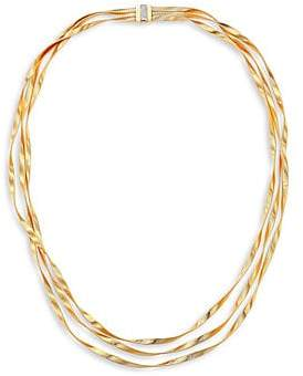 Marco Bicego Women's Marrakech Diamond, 18K Yellow& White Gold Multi-Strand Necklace