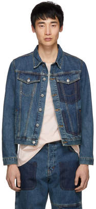 J.W.Anderson Blue Denim Shaded Pocket Jacket
