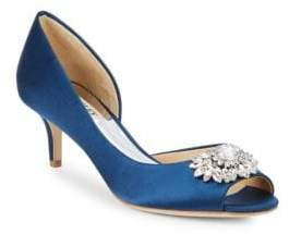 Badgley Mischka Macie Embellished Peep Toe Pumps
