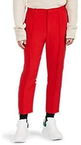 Alexander McQueen Men's Satin-Striped Crop Jogger Pants - Red