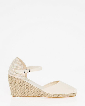 Le Château Canvas Ankle Strap Espadrille Wedge