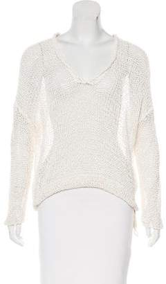 Brunello Cucinelli V-Neck Dolman Sleeve Top