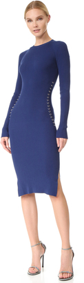 Mugler Long Sleeve Knit Dress $990 thestylecure.com