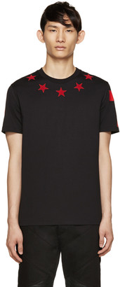 Givenchy Black & Red Stars T-Shirt $555 thestylecure.com