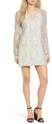 Women's Wayf Lace Bell Sleeve Shift Dress $79 thestylecure.com