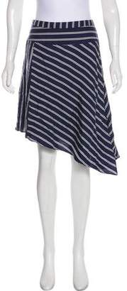 Joie Silk Striped Mini Skirt