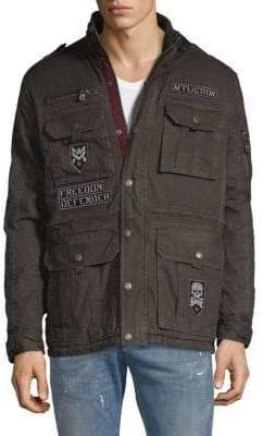 Affliction Patch Cotton Chore Jacket