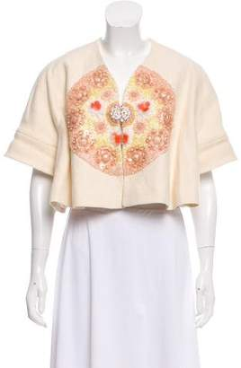 DELPOZO Beaded Cropped Jacket