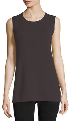 Eileen Fisher Washable Crepe Long Tank, Plus Size $198 thestylecure.com