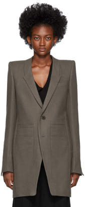 Rick Owens Brown Neue Tailored Coat