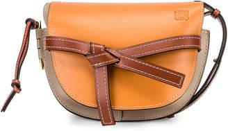 Loewe Gate Small Bag in Amber, Light Grey & Rust | FWRD