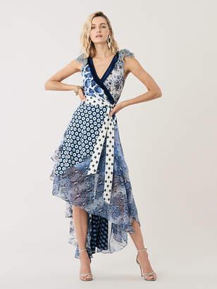 Diane von Furstenberg Ava Silk High-Low Wrap Dress