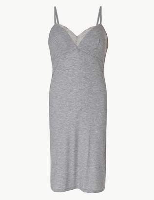 Marks and Spencer Ribbed Strappy Chemise with Secret Support
