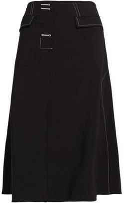 Ellery Flared Canvas Midi Skirt