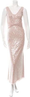 Vera Wang Sequined Evening Dress $175 thestylecure.com