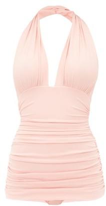 Norma Kamali Bill Ruched Swimsuit - Womens - Pink