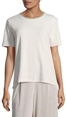 Joan Vass Short Sleeve Pajama Top