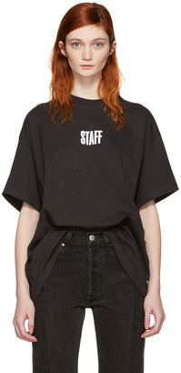 Vetements Black Hanes Edition Quick Made Oversized T-Shirt $430 thestylecure.com