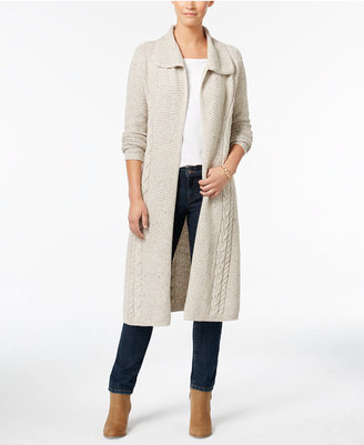 Style & Co. Cable-Knit Duster Cardigan, Only at Macy's $79.50 thestylecure.com