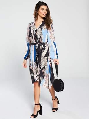 Wallis Blue Paisley Scarf Shirt Dress