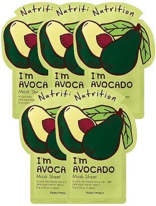 Tony Moly Tonymoly I'm Avocado Sheet Mask 5 Pack