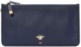 Christian Dior D-Bee leather clutch bag