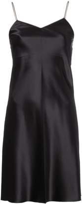 Helmut Lang zipper slip dress