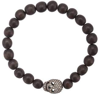 Loree Rodkin diamond skull beaded bracelet