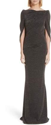 Talbot Runhof 5th Element Metallic Jersey Mermaid Gown