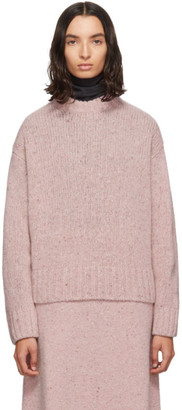 Joseph Pink Tweed Knit Sweater