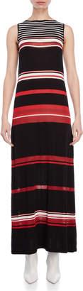 Liviana Conti Striped Knit Maxi Dress