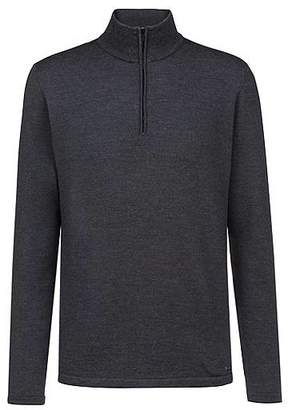 HUGO BOSS Zip-neck sweater in Merino wool