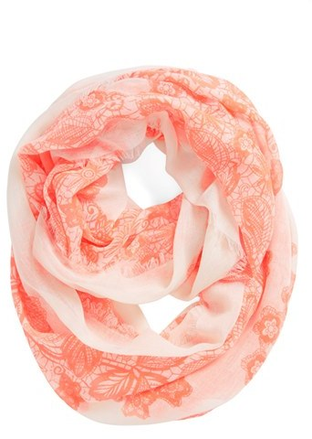 BP 'Floral Lace' Infinity Scarf (Juniors)