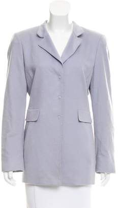 Akris Cashmere Button-Up Blazer