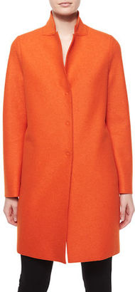 Harris Wharf London Double-Face Wool Hidden Placket Coat $495 thestylecure.com