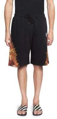Marcelo Burlon County of Milan Flame Wing Cotton Shorts
