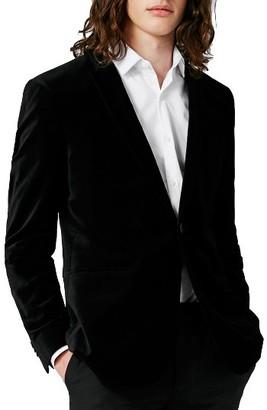 Men's Topman Skinny Fit Velvet Blazer $220 thestylecure.com