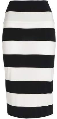 Norma Kamali Striped Stretch-Knit Pencil Skirt