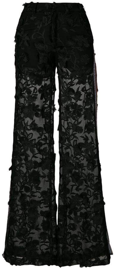 Ainea embroidered flared trousers