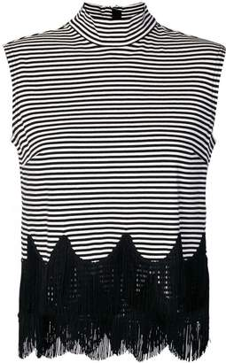 Marc Jacobs sleeveless striped fringe top