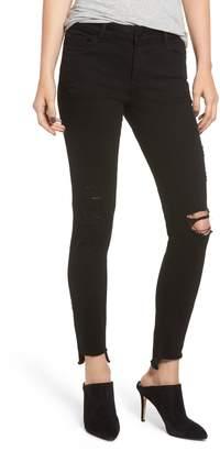 DL1961 Emma Ripped Low Rise Step Hem Skinny Jeans