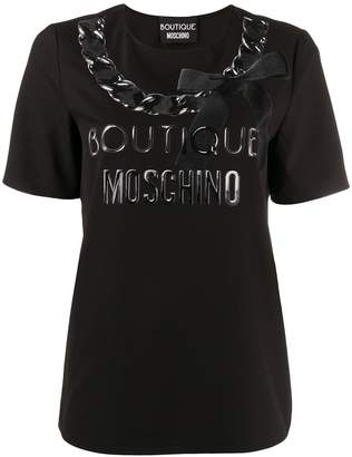 Moschino printed bow logo T-shirt