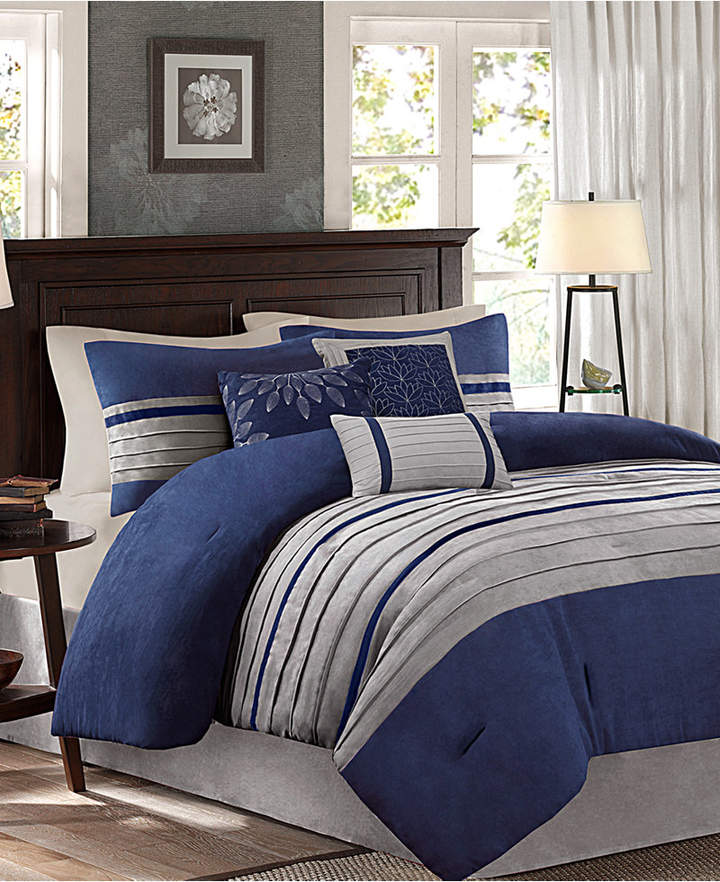 Madison Park Palmer Microsuede 7-Pc. California King Comforter Set Bedding