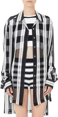 Marc Jacobs Sheer Stripe Silk Shirt