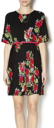 Darling Pleated Floral Dress