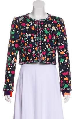 Chanel 2015 Hand-Painted Tweed Jacket