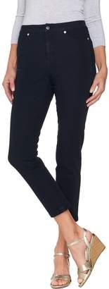 Isaac Mizrahi Live! Regular 24/7 Denim Fly Front Ankle Jeans