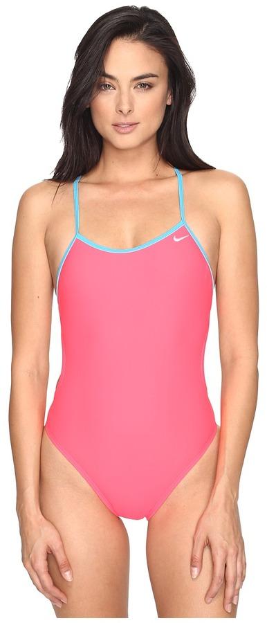 NikeNike - Solids Crossback Cut Out Tank Top Women's Swimwear